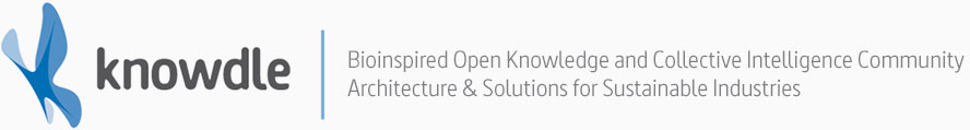 Knowdle - Bioinspired Open Knowledge and Collective Intelligence CommunityArchitecture & Solutions for Sustainable Industries
